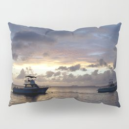 Watercolor People in Nature, NSS, Boat 15, Bonaire, Dutch West Indies Pillow Sham