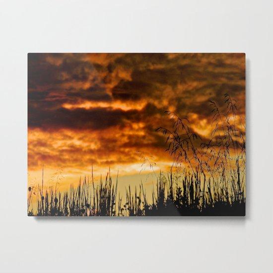 When Storm & Sunset Meet Metal Print