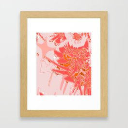 Peach Smooth Abstract Design at GreenBeeMee Framed Art Print