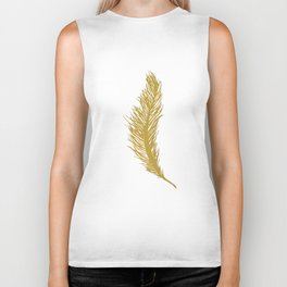Gold Feather Biker Tank