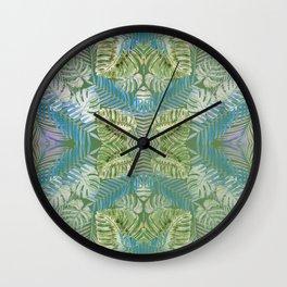 Jungle Print Teal Wall Clock