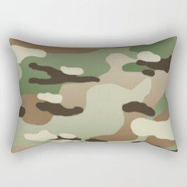 Military Camouflage: Woodland Rectangular Pillow