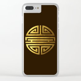 Four blessings Gold Clear iPhone Case