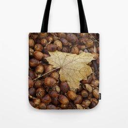 Acorns with Maple Leaf Tote Bag