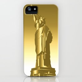 Gold Statue of Liberty iPhone Case