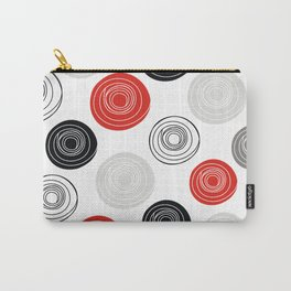Red black gray oval circles Carry-All Pouch