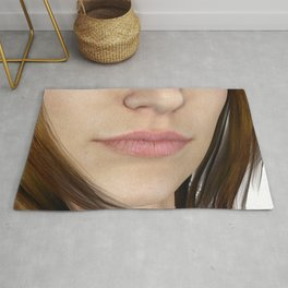 Natural Lips and Nose Close Up Rug