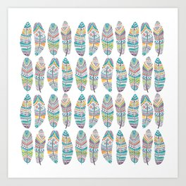 Amazon Feathers Art Print