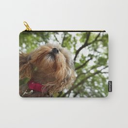 Morkie in the Woods Carry-All Pouch