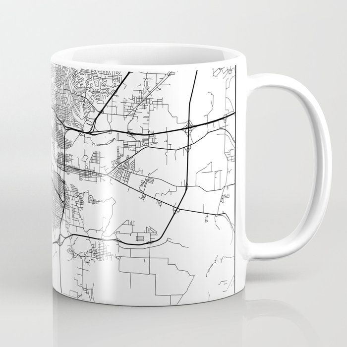Minimal City Maps - Map Of Little Rock, Arkansas, United States Coffee Mug  by valsymot