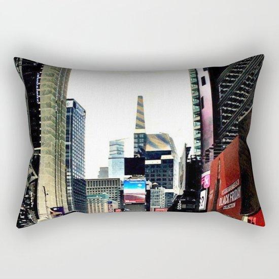 Downtown New York City Rectangular Pillow