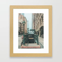 New York City Subway 2 Framed Art Print