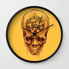 skull of honey Wall Clock