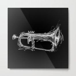 Flugelhorn Metal Print