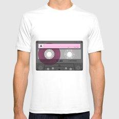 Cassette Mens Fitted Tee MEDIUM White