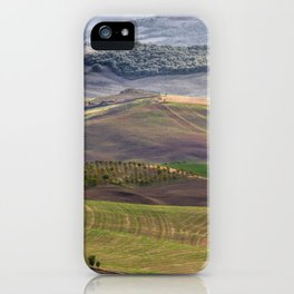 hilly landscape iPhone Case