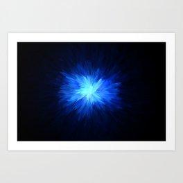 Blue Splash Abstract Background 3 Art Print