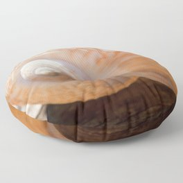 Glowing Light Paper Fig Shell Floor Pillow