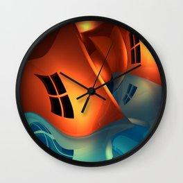 crooked room -4- Wall Clock