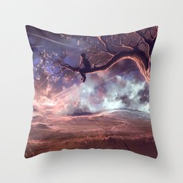 It made scars in the sky  Throw Pillow