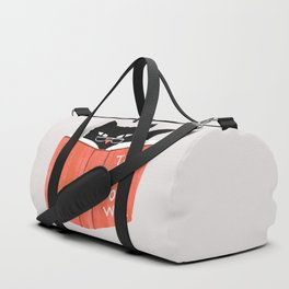 Cat reading book Duffle Bag