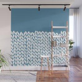 Half Knit Blue Wall Mural