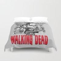 walking dead Duvet Covers featuring Walking Dead by Matt Fontaine