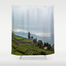 vineyards of switzerland Shower Curtain