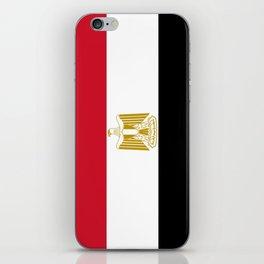 flag of egypt- Egyptian,nile,pyramid,pharaon,cleopatra,moses,cairo,alexandria. iPhone Skin