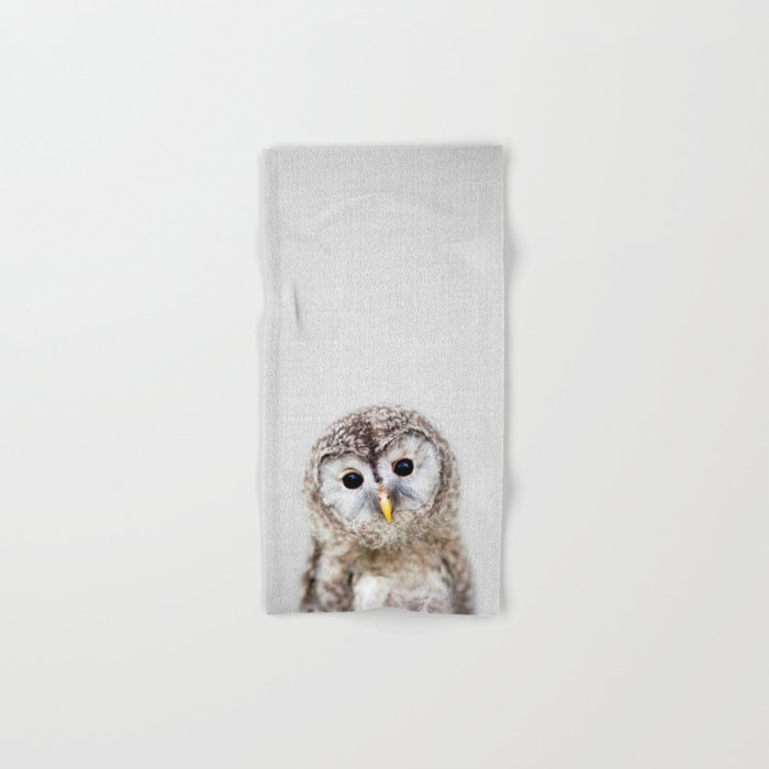 Baby Owl - Colorful Hand & Bath Towel