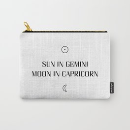 Gemini/Capricorn Sun and Moon Signs Carry-All Pouch