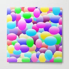 Bubble Eggs Dark Metal Print