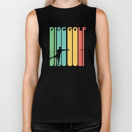 Vintage 1970's Style Disc Golf Graphic Biker Tank