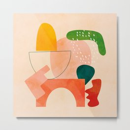 modern art abstract shapes play 2 Metal Print