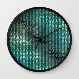 Blue Diamond Pattern Wall Clock
