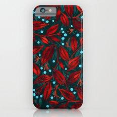 BLUE BERRIES RED LEAVES Slim Case iPhone 6s