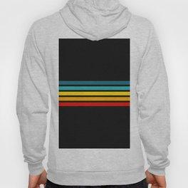 Colorful Trendy Lines Black III Hoody