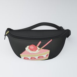 Pixel Strawberry Cake Fanny Pack