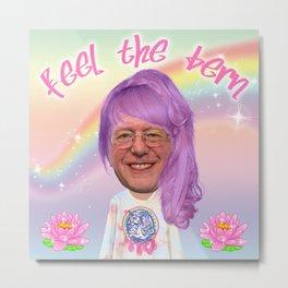 Feel The Bern - Kawaii Bernie Metal Print