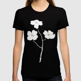 white dogwood flower watercolor T-shirt