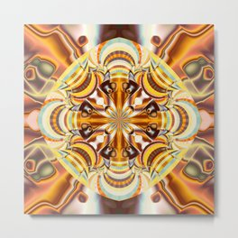 A touch of Autumn, fractal abstract in fall colors Metal Print
