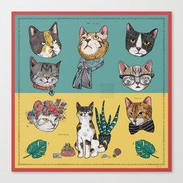 Cats Reunion Canvas Print