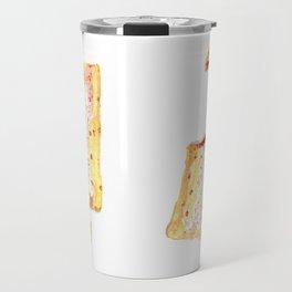 Watercolor Strawberry Pop Tart Travel Mug