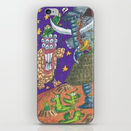 Alien May Day & Fire  Frogs iPhone Skin