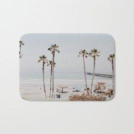 palm trees x / california Bath Mat