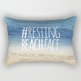 #RestingBeachFace Rectangular Pillow
