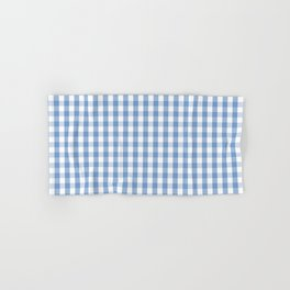 Classic Pale Blue Pastel Gingham Check Hand & Bath Towel