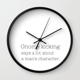 Gnome kicking - GG Collection Wall Clock