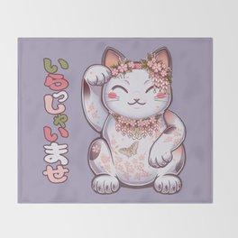 Hanami Maneki Neko: Shun Throw Blanket