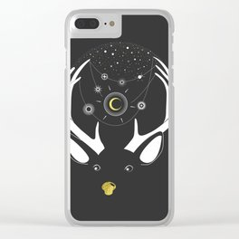 Rudolph and the Moon Clear iPhone Case